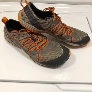 Merrell barefoot size 12 orange shoes